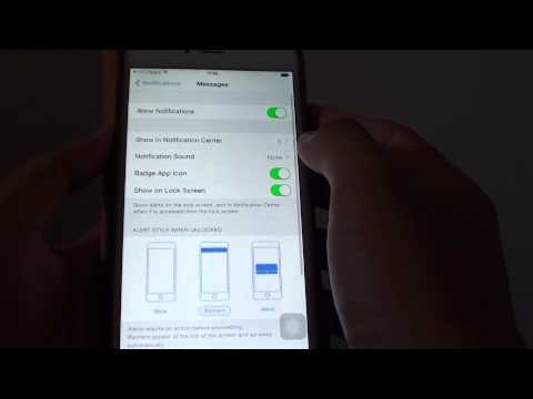 iPhone 6 Plus: How to Turn On / Off Text Messages Notification Sound