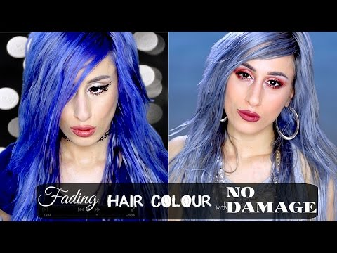 Fade Hair Colour with NO DAMAGE FAST! + NEW GREY-BLUE HAIR!