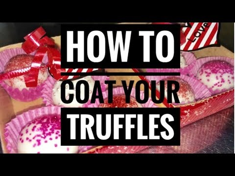 How to create a smooth, no mess chocolate coating for your cake pops and truffles.