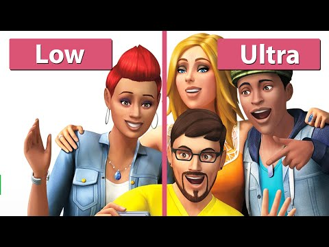 The Sims 4 - PC Low vs. Ultra Graphics Comparison