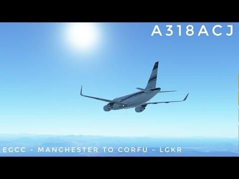 Infinite Flight Timelapse : EGCC - Manchester to Corfu (Greece) - LGKR