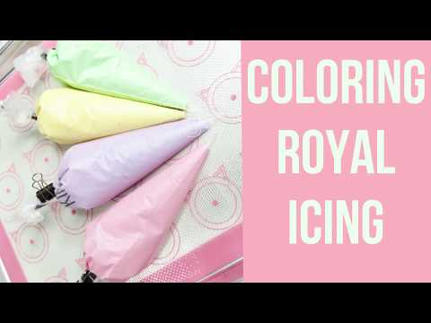 HOW TO COLOR ROYAL ICING | VERYCHERRYCAKESLLC