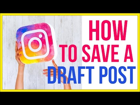 How To Schedule and Save Instagram Posts As Drafts - Instagram Tutorial