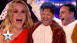 SURPRISE! Ant and Dec PRANK the Judges!   Unforgettable Audition   Britain's Got Talent