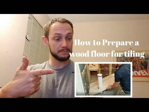 Preparing a wood sub-floor for tile application.