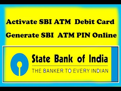 How to Activate SBI ATM  Debit Card How To Generate SBI  ATM PIN Online/tamil