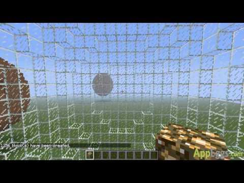 Building a sphere in Minecraft PE walkthrough
