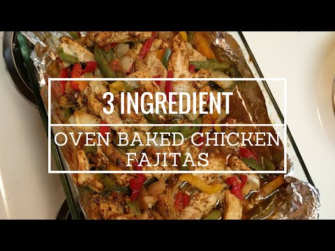 Oven Baked Chicken Fajita Meal Prep Video