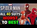 ALL 40 Spider-Man PS4 Suits Ranked Worst To Best!