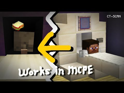 Minecraft, MCPE | How to make a Working CT-Scan
