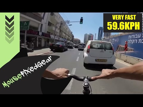 VERY FAST Fixed Gear Urban cycling speed - FIXIE BLOOD