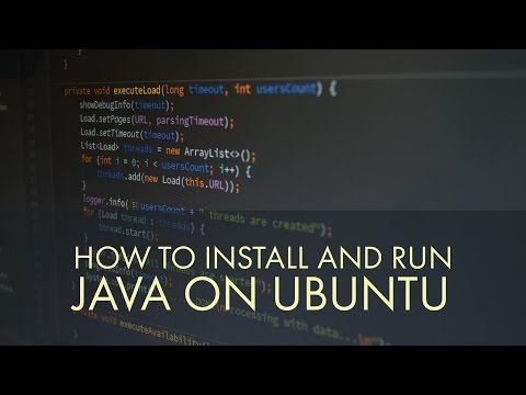 How to install and run java on ubuntu