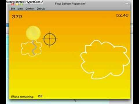 Flash Balloon Shooting Game