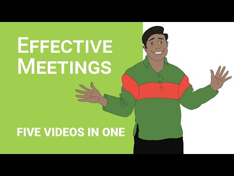 How to run Effective and Efficient  Business Meetings