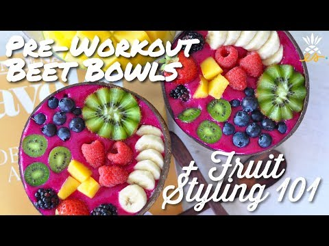 Pre-Workout Beet Protein Smoothie Bowl Recipe + Giveaway! | Plant-based + Raw Vegan