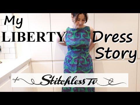 My Liberty Dress Story / Sewing Vlog