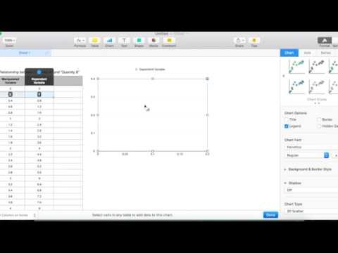 Plot line graph using Numbers in MAC.
