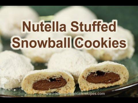 Nutella stuffed Snowball Cookies | Mexican Wedding Cookies | Rockin Robin Cooks