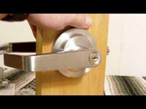 Storeroom function lever handle from www.lockpeddler.com