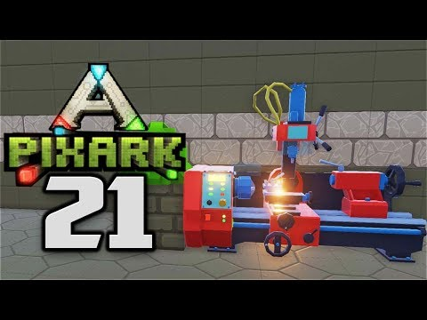 SHARP CRYSTAL, SPINEL ORE & ELECTRONICS - Let's Play PixARK Gameplay Part 21 (PixARK Pooping Evolved