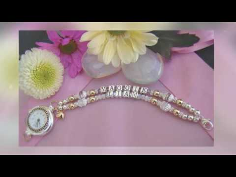 Personalized Name Bracelets Canada | Baby Bead Treasures |  403-634-5439