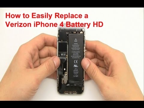 Verizon iPhone 4 Battery Replacement Directions