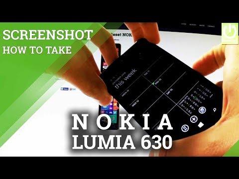 How to Save Screen on NOKIA Lumia 630 - Take Screenshot