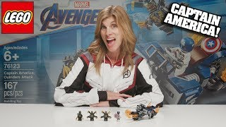 CAPTAIN AMERICA: OUTRIDERS ATTACK - Lego Avengers Endgame Set 76123! Time-lapse Build & Review