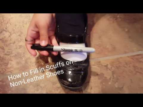 How to fill in and hide scuffs on non-leather shoes