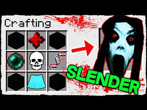 Minecraft - How to Summon SLENDRINA in Crafting Table!