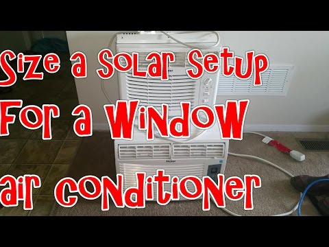 Size a Solar setup for a window air conditioner