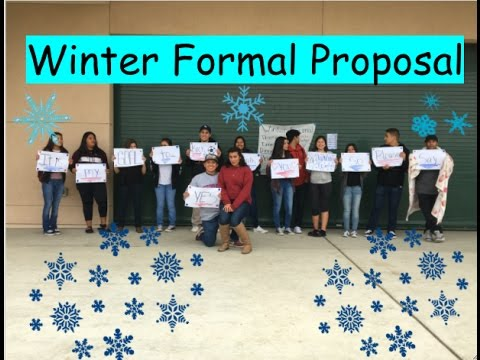 Winter Formal Proposal/ 2016-2017