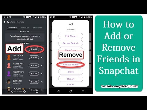 How to Add or Remove Friends in Snapchat For Android Users | Add Friends - Snapchat Support