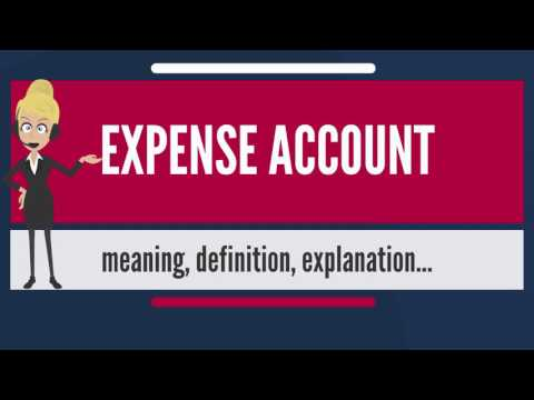 What is EXPENSE ACCOUNT? What does EXPENSE ACCOUNT mean? EXPENSE ACCOUNT meaning & explanation