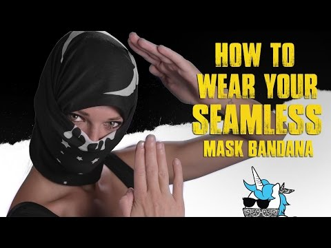 How to Wear Your Seamless Mask Bandana [iHeartRaves.com]