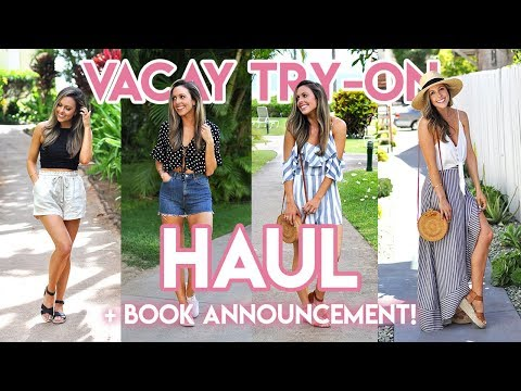 VACAY CLOTHING TRY-ON HAUL + ART BOOK ANNOUNCEMENT!