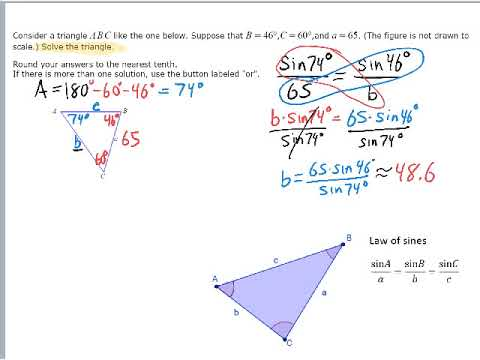 Using Law of Sines to Solving a Triangle