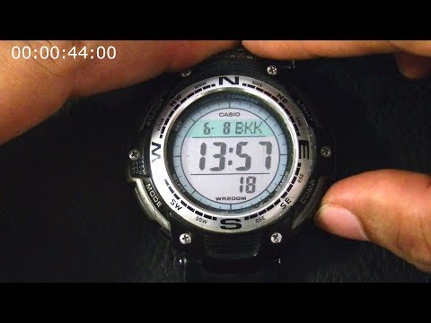 How to Set Watch, Alarm, World Time, Etc. on Casio SGW-100