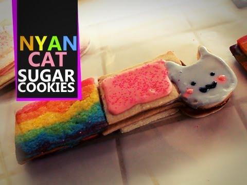 Nyan Cat Sugar Cookies - Quake N Bake