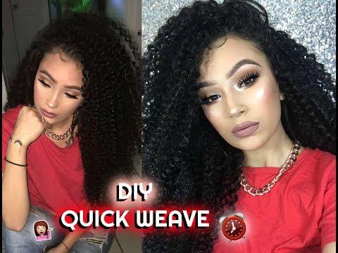 DIY 30 Min Quick Weave ft Ali Julia Hair