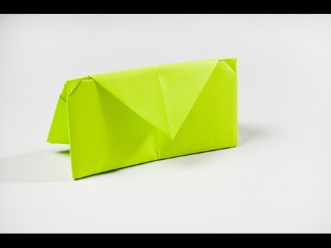 How to make a paper wallet |  Origami wallet