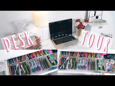 DESK TOUR | How I Organise My Study Space #Ad