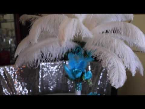 FEATHER CENTERPIECE !!!!!! HOW TO DIY