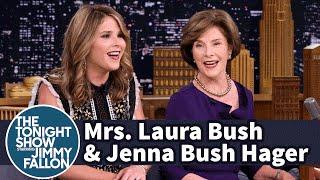 Mrs. Laura Bush and Jenna Bush Hager on George W. Bush