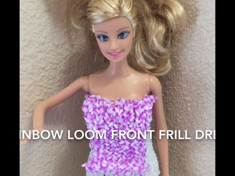 Rainbow Loom Barbie's Beautiful Dress with Frill - By Rajshree