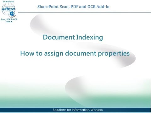 SharePoint Scan, PDF and OCR Add-in - Document Indexing