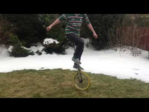 Homemade giraffe unicycle