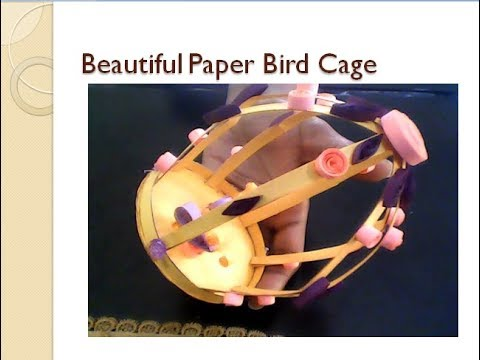 how to make beautiful paper bird cage/Diy decorate Quilling Art