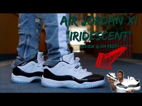 "AIR JORDAN 11 LOW ""IRIDESCENT"" REVIEW w/ ON FEET!!! GOT THESE FOR ONLY $130 🔥🔥🔥🔥"
