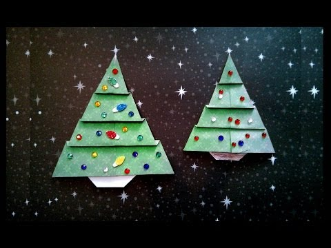 Easy Origami Christmas Tree (difficulty 2/10) 折り紙クリスマスツリー